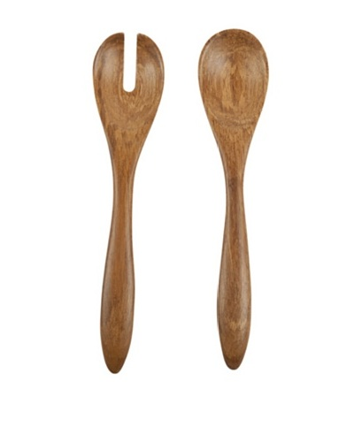 Core Bamboo Crushed Bamboo Serving Set, Dark