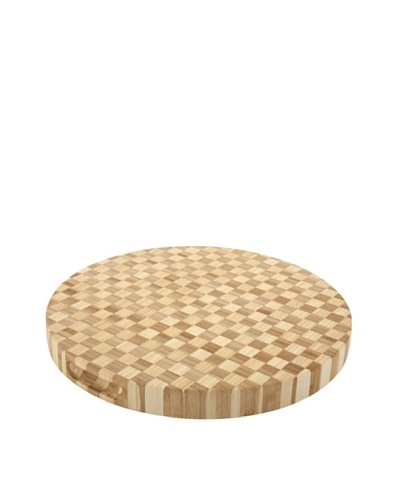 Core Bamboo Pro Chef Round Checker Chop Block