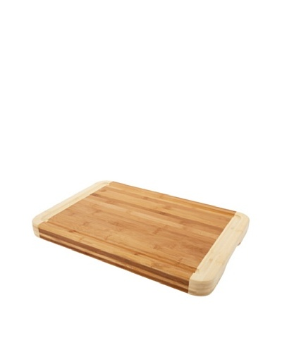 Core Bamboo Pro Chef Two-Tone Chop Block, Natural/Violet