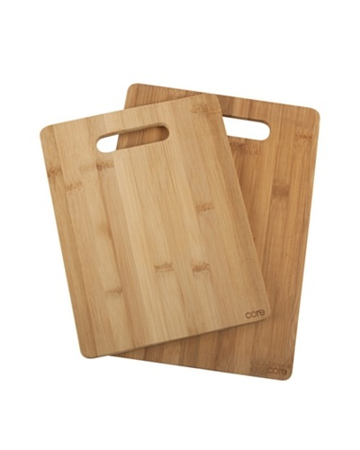 Core Bamboo Set of 2 Daisy Cutting Boards, Natural