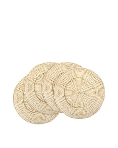 Core Bamboo Set of 4 Rattan and Bamboo Chargers [Natural]