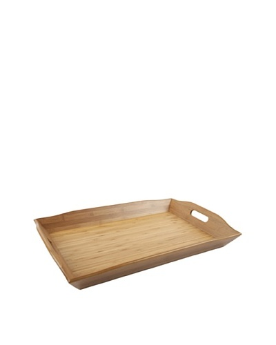 Core Bamboo Extra Large European Rectangle Bamboo Tray, Natural