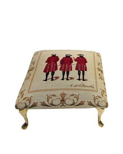 Corona Décor Co. Red Coats III Footstool