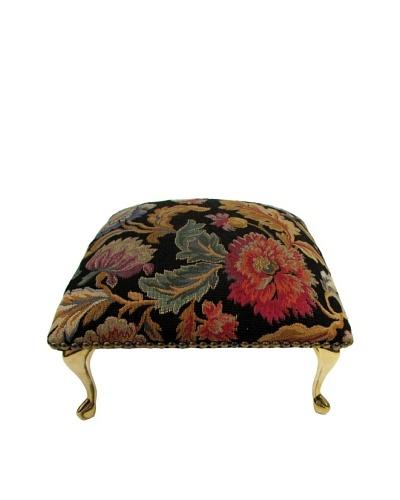 Corona Décor Co. Vintage Flora Black Footstool