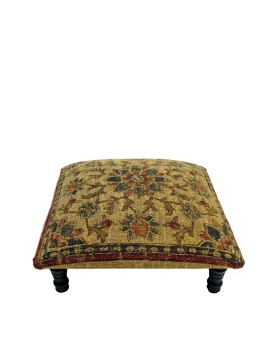 Corona Décor Co. Kiln III Gold Footstool