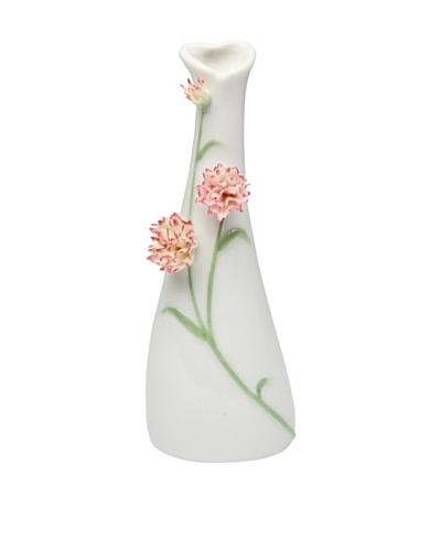 Porcelain Carnation Vase, White