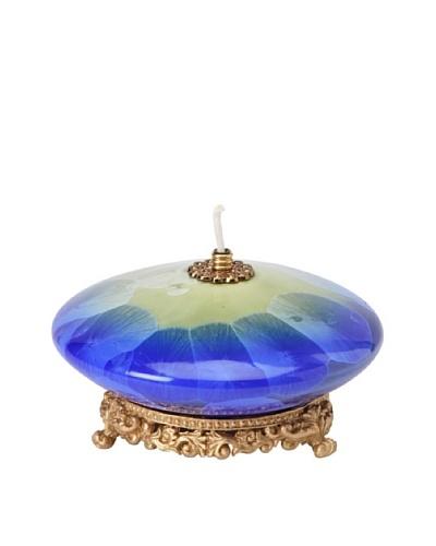 Cosmos Fine Porcelain Oil Lamp, Blue
