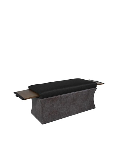 COUEF Ray Storage Bench, Latte/Espresso Gab/Distressed Grey