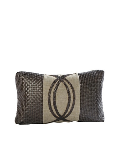 COUEF Carey Lumbar Pillow, Chocolate Basketweave/Linen