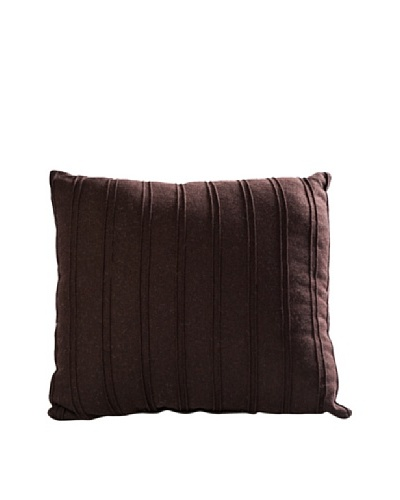 COUEF Monroe Toss Pillow, Pleated Flannel Chocolate