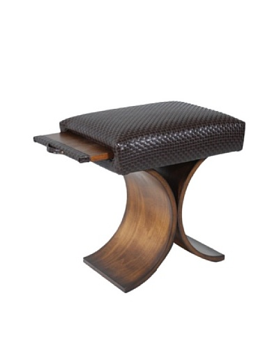 COUEF Giana Classic Convertible Ottoman-Table-Stool, Coffee/Chocolate Basketweave