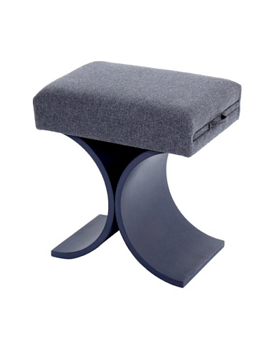COUEF Giana Classic Convertible Ottoman-Table-Stool, Greige/Grey Flannel