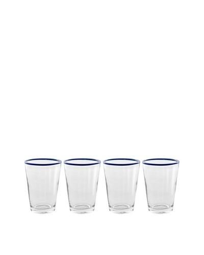 Couleur Nature Set of 4 Color Pop 8-Oz. Glasses, Navy