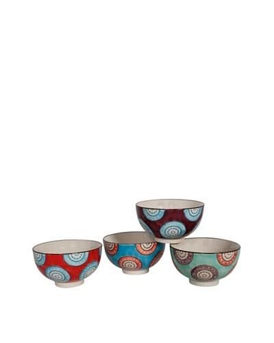 Couleur Nature Set of 4 Ceramic Wheel Bowls