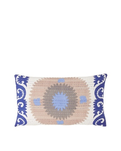 Couleur Nature Suzzani Kantha Pillow, Blue