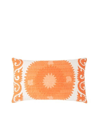 Couleur Nature Suzzani Kantha Pillow, Orange
