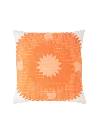 Couleur Nature Suzzani Kantha Pillow, Orange