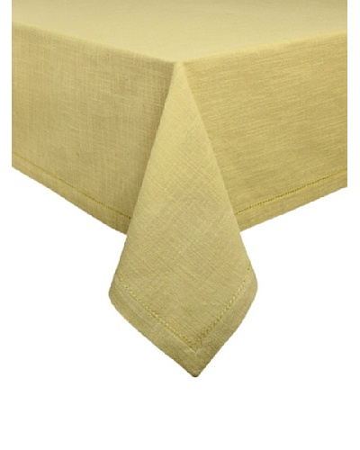 Couleur Nature Hemstitch Tablecloth, Kiwi, 90 Round