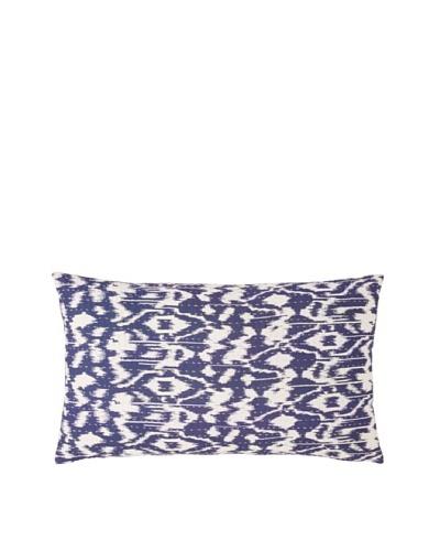 Couleur Nature Ikhat Kantha Pillow, Blue