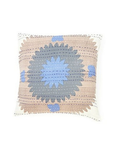 "Couleur Nature Suzzani Kantha Sham, 20"" x 20As You See"