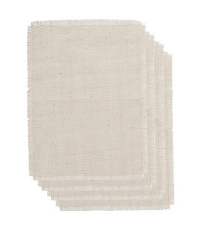 Couleur Nature Set of 4 Burlap Placemats, Ivory