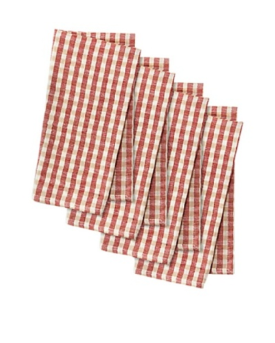 Couleur Nature Set of 4 Khadhi Gingham Check Napkins