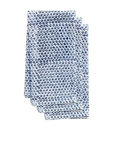 Couleur Nature Set of 3 Dots Tea Towels, Indigo
