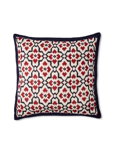 Couleur Nature Arabesque Euro Sham, Red/NavyAs You See