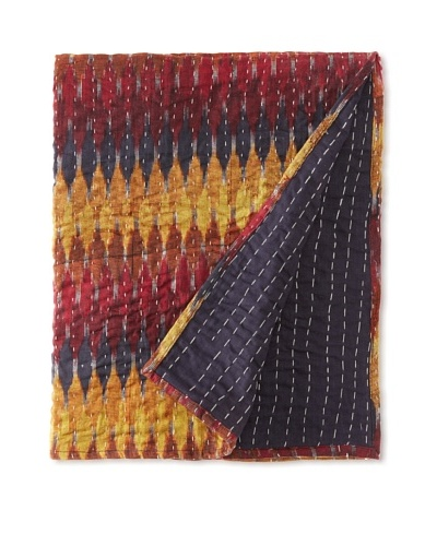 Couleur Nature Ikhat Kantha Throw, 59 x 59As You See