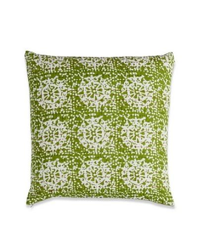 Couleur Nature Ikhat Kantha Pillow, Green