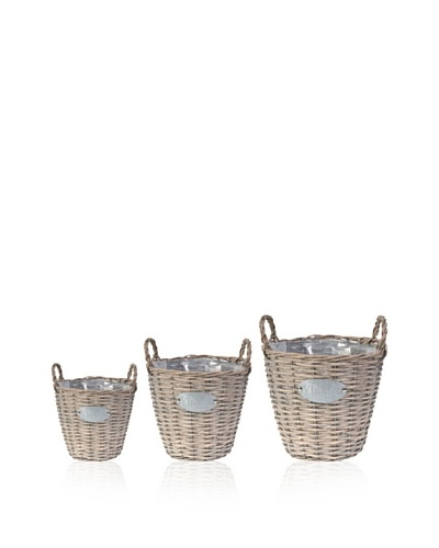 A&B Home Set of 3 Wooden Planters
