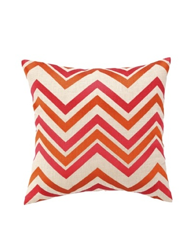 Courtney Cachet Chevron Embellished Down Pillow, Orange/Pink, 16 x 16