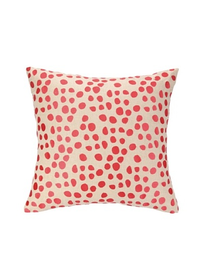 Courtney Cachet Fans Embellished Down Pillow, Orange, 18 x 18