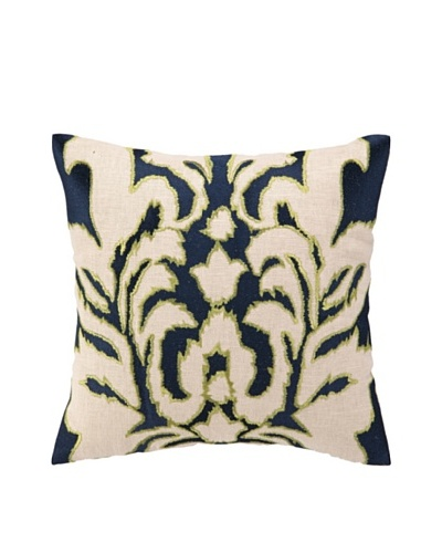 """Courtney Cachet Ikat Embellished Down Pillow, Navy, 16"""" x 16""""As You See"""