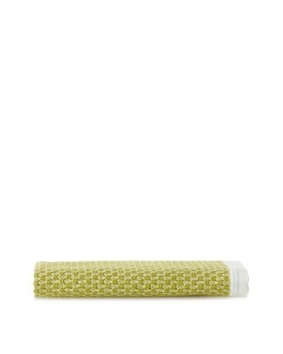 Coyuchi Mediterranean Wash Cloth, Green Tea/Dusty Aqua Stripe