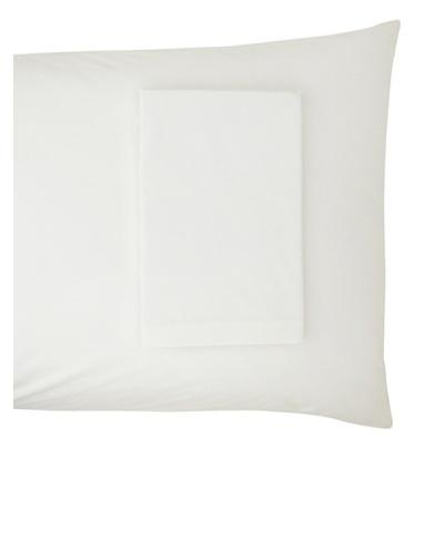 Coyuchi Percale Pillowcase, White, Standard