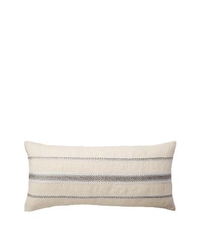 Coyuchi Ombre Linen Pillow, Natural/Gray