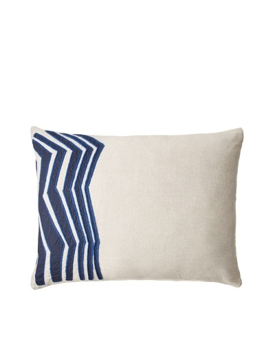 Coyuchi Blue Light Pillow, Natural/Indigo