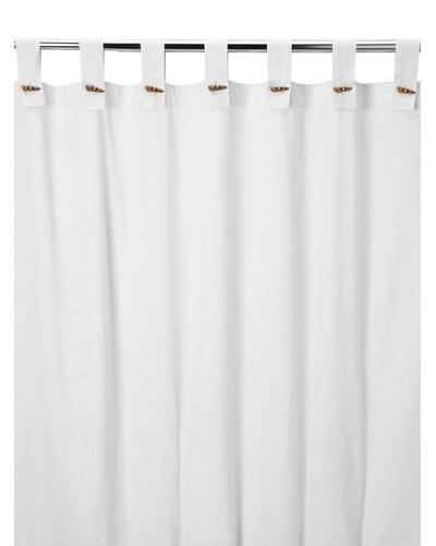Coyuchi Seersucker Shower Curtain, White