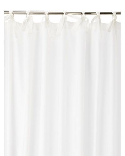 Coyuchi Pin Tuck 300 Percale Shower Curtain, White