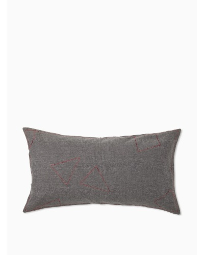 Coyuchi Embroidered Pebbled Pillow Sham