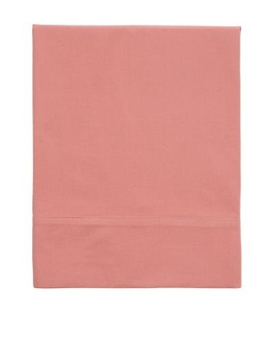 Coyuchi Washed Percale Flat Sheet [Dusty Rose]
