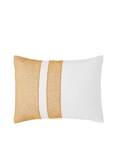Coyuchi Labyrinth Embroidered Linen Pillow Sham