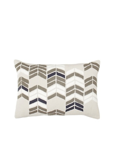 Coyuchi Chevron Stack Pillow [Gray/Multi]