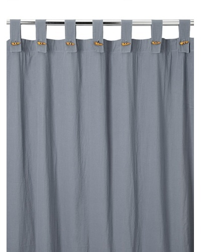 Coyuchi Seersucker Shower Curtain, Charcoal