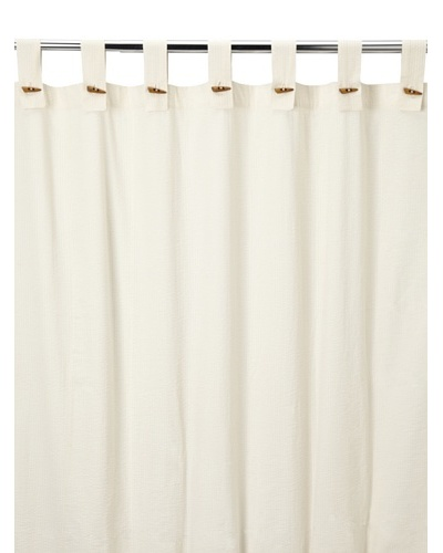 Coyuchi Seersucker Shower Curtain, Ivory
