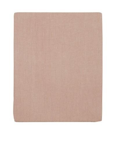 Coyuchi Mini Stripe Cotton/Linen Fitted Sheet