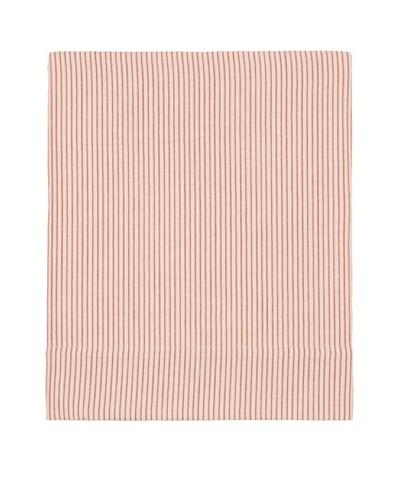 Coyuchi Mini Stripe Cotton/Linen Flat Sheet