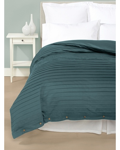 Coyuchi Pleated Sateen Duvet Cover [Cerulean]