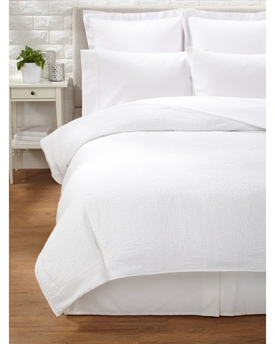 Coyuchi Ruched Muslin Coverlet [White]